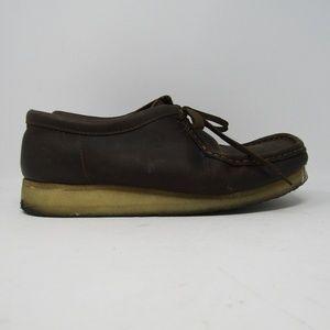 Clarks Men Wallabee Low Boot Beeswax